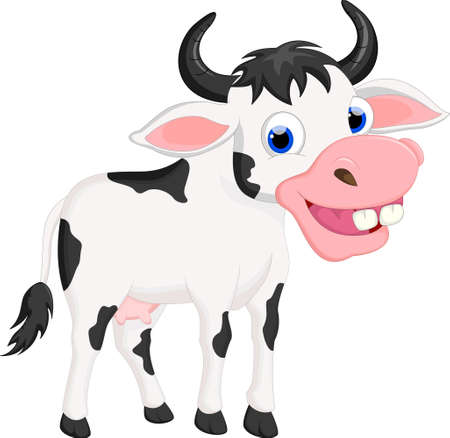 moo: Cow cartoon for your design