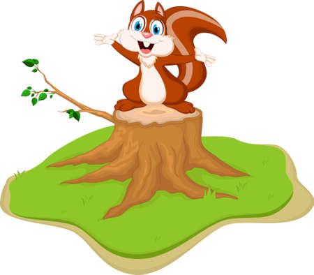 humorous: Funny squirrel cartoon