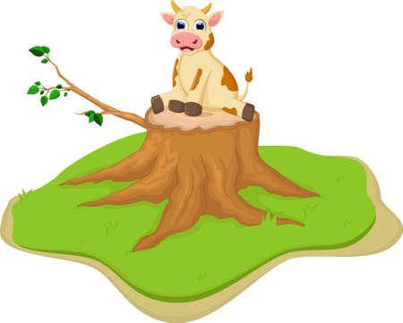 cute cartoon: Cute cow cartoon Illustration
