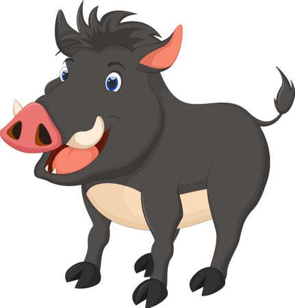omnivore animal: wild boar cartoon run