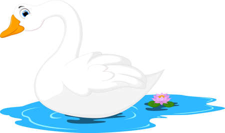 Cute Goose Cartoon Illustration