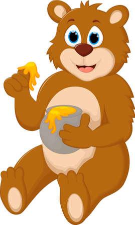 Cute Cartoon Bear Vector Illustration