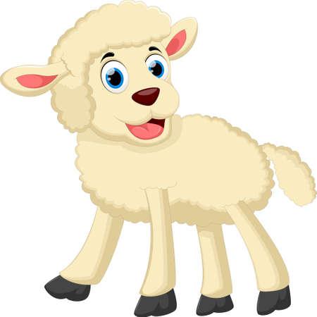 Cute sheep cartoon for you design