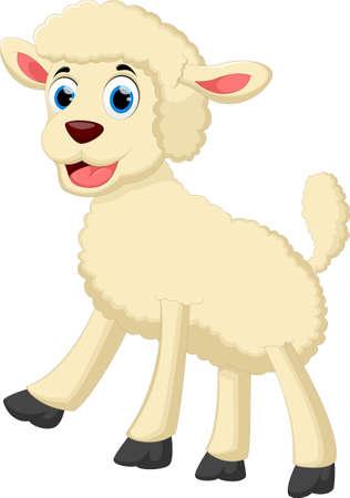 Happy goat cartoon Vettoriali