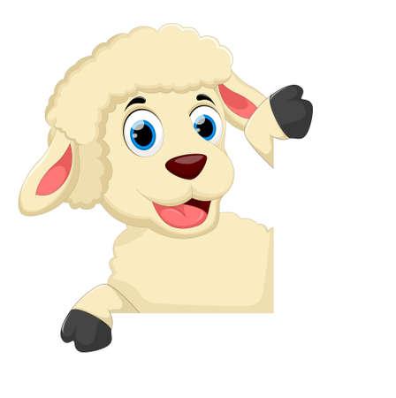 Cute goat cartoon Ilustração