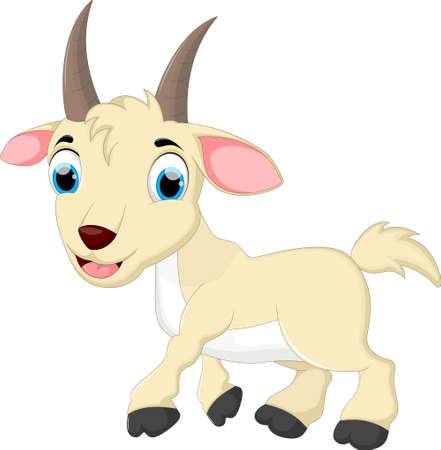 Funny goat cartoon run