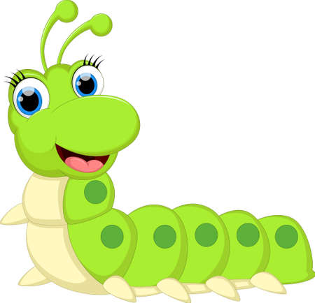 Cute Cartoon Caterpilar for you design