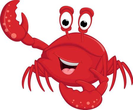 Cartoon crab for you design Ilustração