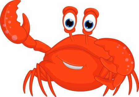Cute cartoon crab for you design Ilustração