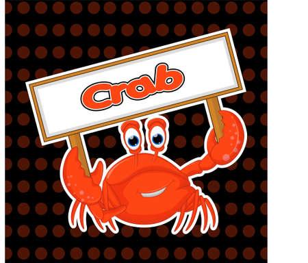 Happy cute cartoon crab for you design.