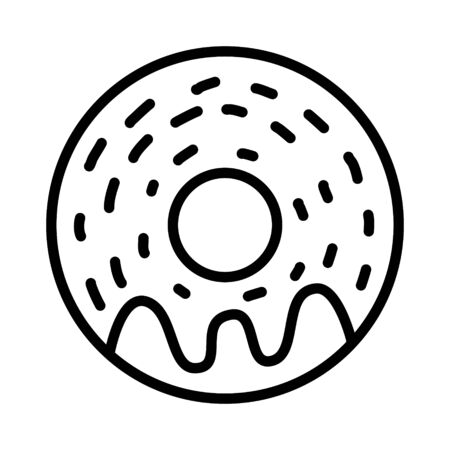 Donut icon vector isolated on white background. Donut glaze collection. Sweet sugar icing donuts. doughnut illustration  イラスト・ベクター素材