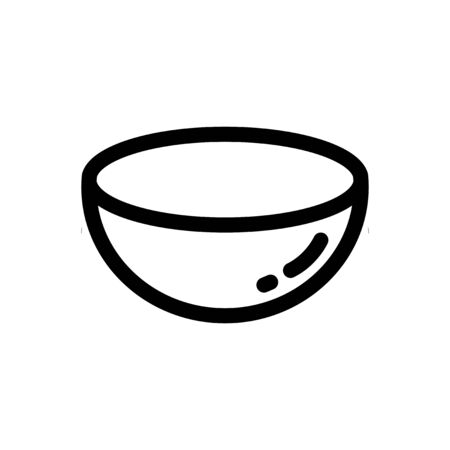 bowl icon vector, Cooking line icon design