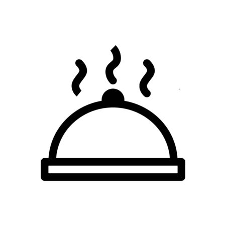 Food Cover icon, Rice cover, Cooking line design
