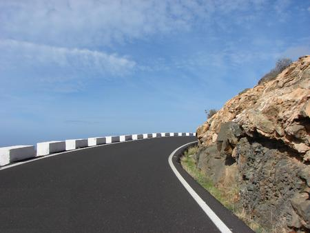 road in the mountains Fuerteventura photo