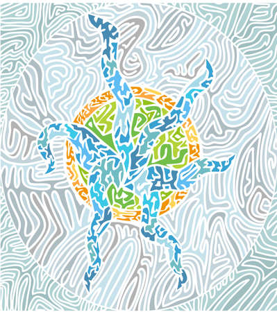 squiggles: abstract mosaic pattern