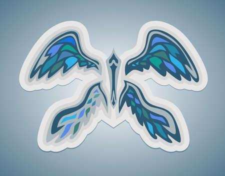 abstract wings Illusztráció