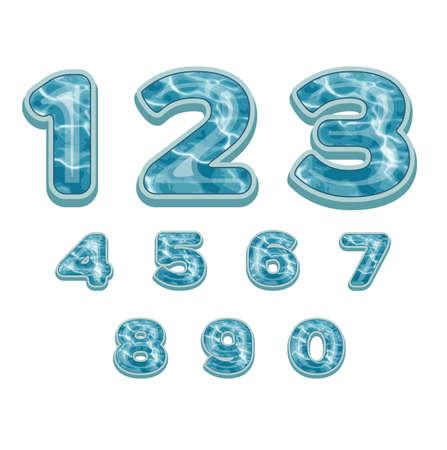 numbers sea pattern Ilustração