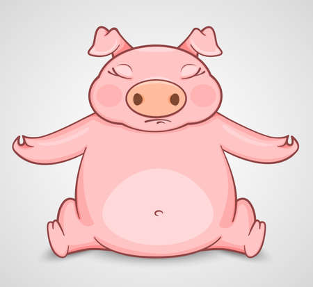 deportment: pig practice in yoga