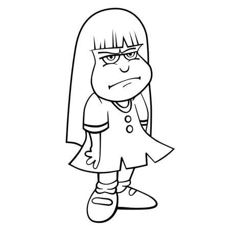 Libro Para Colorear Con Dibujos Animados De Niño En Traje De