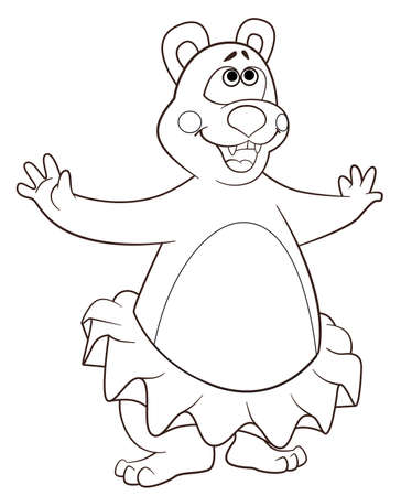 colorize: coloring book bear Illustration
