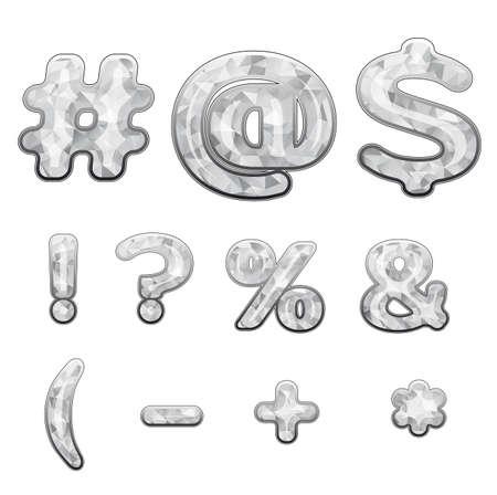 ligature: diamond symbols Illustration