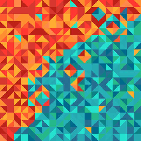overflowing: Colorful abstract background with triangle pattern