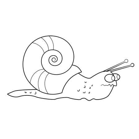 tense: Coloring book. Tense snail