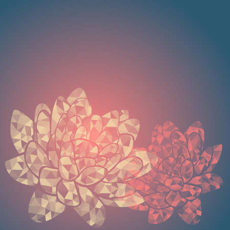 water lilies: Coloridos nen�fares transparentes abstractos con patr�n de tri�ngulo