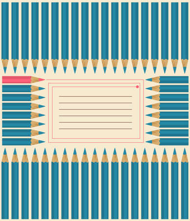 Cover for notebook with colorful pencils