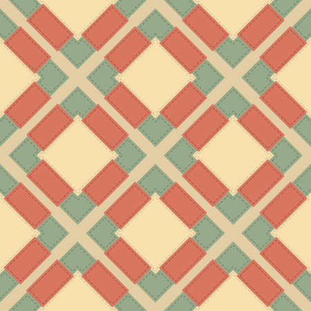 stitched: Abstract seamless colorful background in patchwork style with stitched geometric shapes