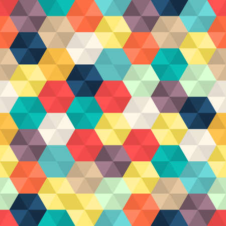 Seamless Abstract Colorful background with hexagons