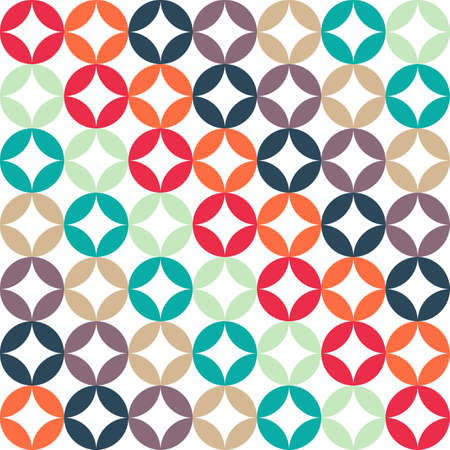 pattern wallpaper: Seamless colorful Abstract background made of stars and circles