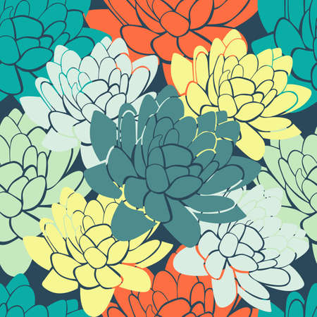 water lilies: Seamless Abstract colorful background with water lilies