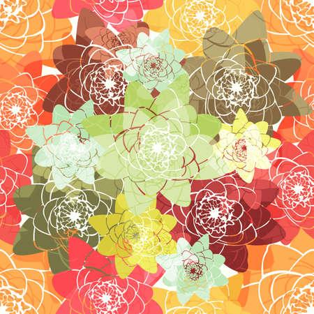 water lilies: Fondo incons�til colorido abstracto con lirios de agua