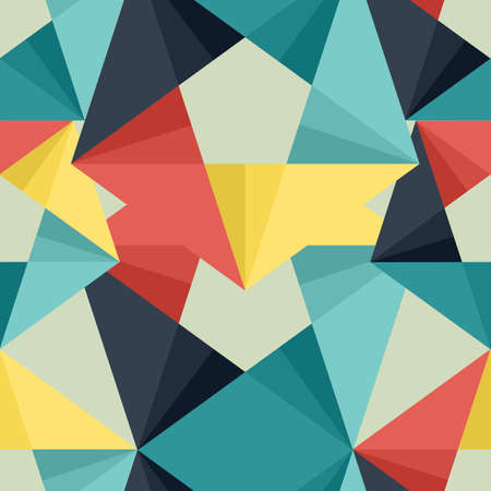 Seamless abstract colorful background made of triangle pattern Ilustração