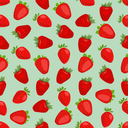 side dish: Seamless colorful background made of strawberry in flat design Illustration
