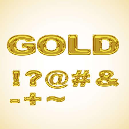 hyphen: Symbols stylized gold