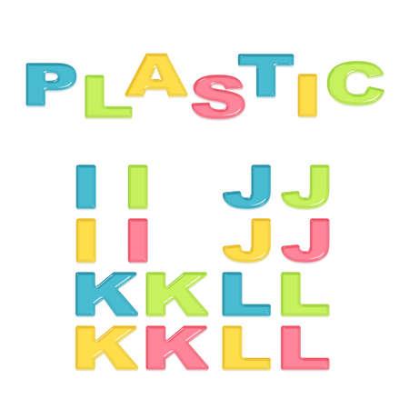 plastic: Alfabet gestileerde kleurrijke plastic