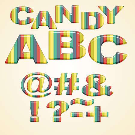 hyphen: Colorful Symbols stylized candy