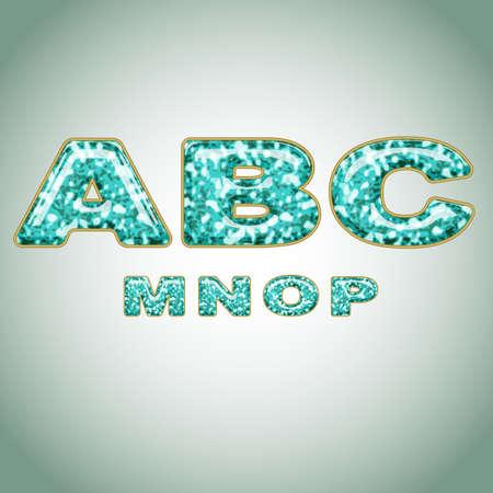 precious: Alphabet imitating precious shiny surface