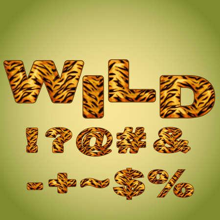 hyphen: Simboli imitando pelliccia di tigre