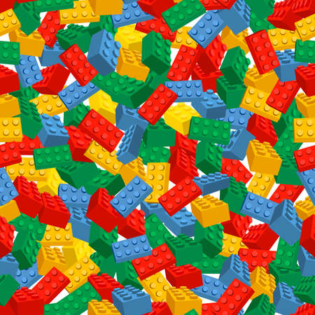 Seamless colorful background made of pieces 向量圖像