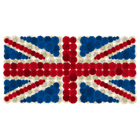 great britain: Flag of Great Britain made of flowers Illustration