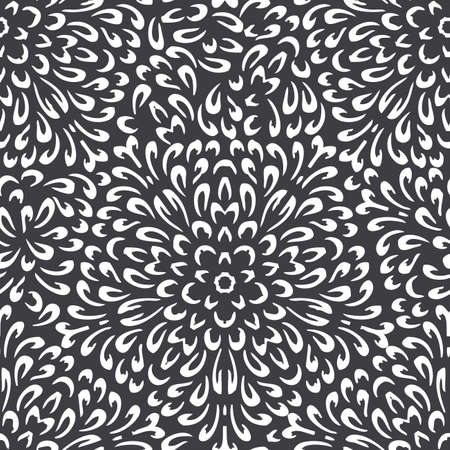 specific: Seamless background made of exotic pattern in black and white colors