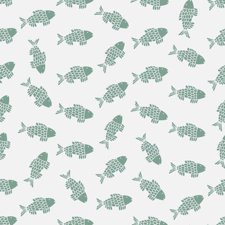 abstract fish: Seamless colorful background made of abstract fish Illustration