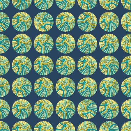 ahogarse: Fondo colorido incons�til hecho de c�rculos con el patr�n de la mano se ahoga Vectores