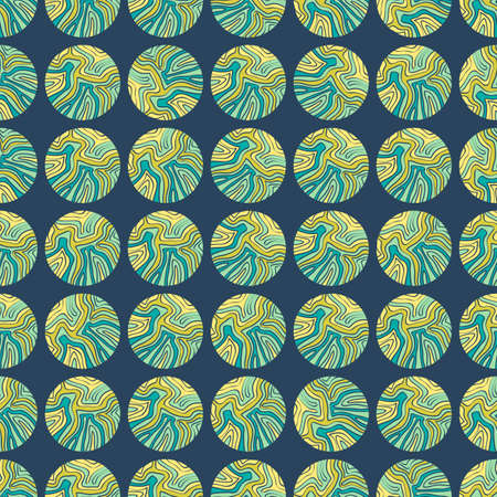 drown: Seamless colorful background made of circles with hand drown pattern Illustration