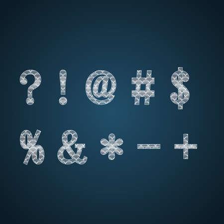 hyphen: Ornate Symbols in white color