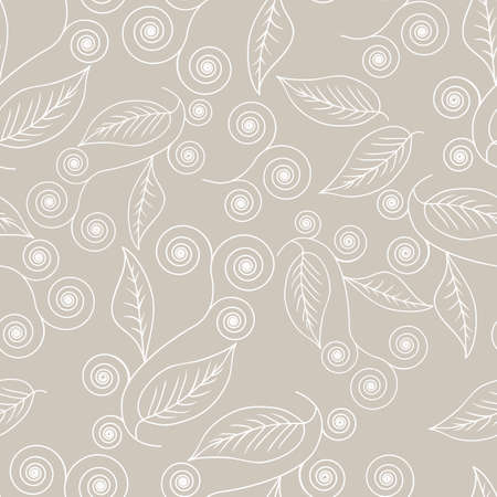 grey pattern: Seamless background with floral abstract pattern in grey color Illustration