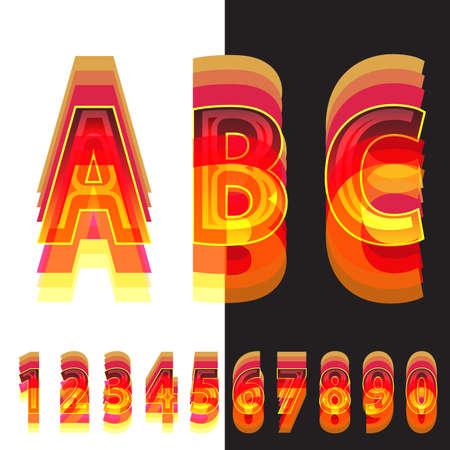 colores calidos: n�meros abstractos en colores c�lidos